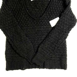 Free people Women's Chunky Cable Sweater Black
